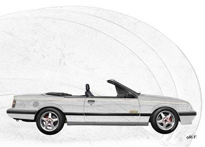 Opel Monza Cabrio in graphit
