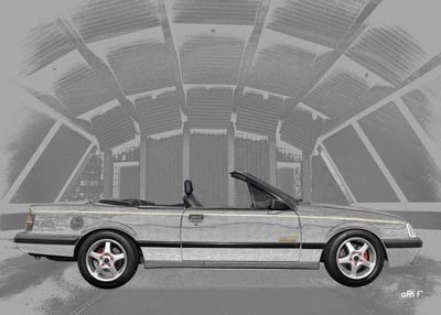 Opel Monza Cabriolet in graphit & grey