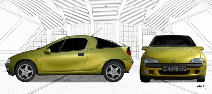 Opel Tigra double view in Originalfarbe