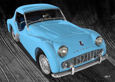 Triumph TR3A in blue & black for sale