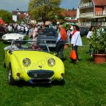 Triumph TR3 in shocked yellow bei einem Oldtimertreffen on Lake Constance / Germany