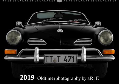 Oldtimerkalender 2019 bei aRi F. mit Titelbild VW Karmann Ghia