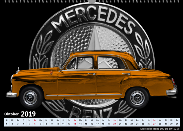 2019 Oktober Mercedes-Benz 190 Db W 121