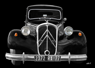 Citroen Traction Avant Poster Gangsterauto by aRi F.