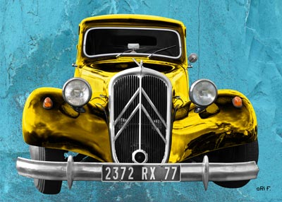 Citroen Traction Avant new Art Deco created by aRi F.