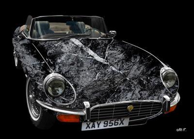 Jaguar E-Type Serie 3 Roadster in black & grey stone