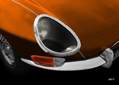 Jaguar E-Type Serie 1 Poster in copper