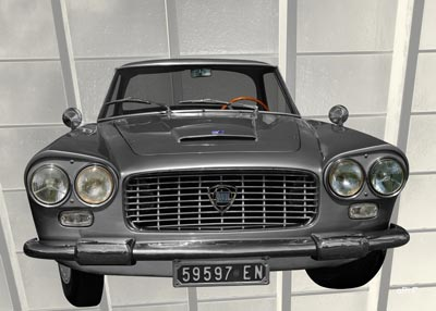 Lancia Flaminia in black & silver Poster