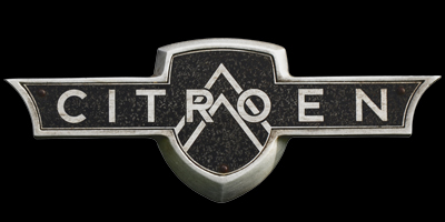 Logo Citroen auf Traction Avant