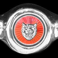 Logo Jaguar E-Type Serie 1 auf Kühlergrill