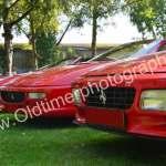 70 Jahre Ferrari von rechts nach links Ferrari Testarossa (1984–1996) 291 kW (390 PS), Ferrari 348 TS (1989–1993) 217 kW (295 PS), Ferrari F355 Spider (1994–1999) 280 kW (380 PS)
