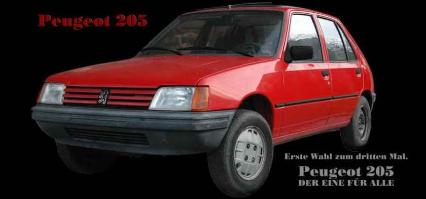 Peugeot 205 Poster for sale