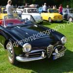 Alfa Romeo Giulia 1600 Spider 1962-1965, italienisches Design gibt sich im Schlossgarten Wolfegg die Ehre