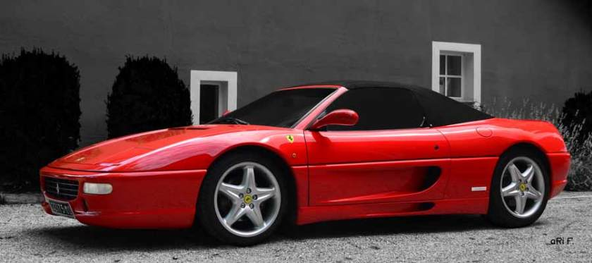 Ferrari F 355 Spider Poster side view