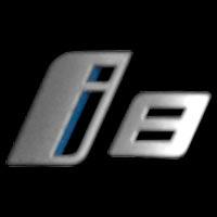 Logo BMW i8 (Typ I12) auf Heckseite