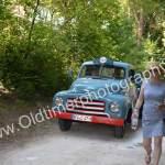 Opel Blitz Pritschenwagen 1952-1960 bei Einfahrt zum Schlossgarten in Wolfegg