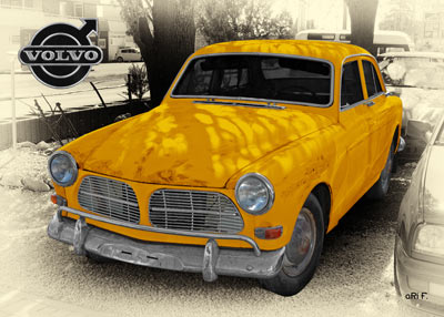Volvo Amazon in yellow