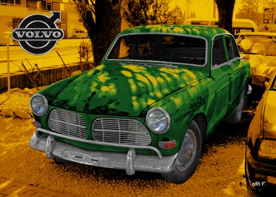 Volvo Amazon in green & yellow