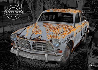Volvo Amazon in rust grey