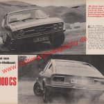 Testbericht Audi 100 Coupé S Seite 24-25 in Hobby 1970er Jahre