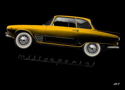 Auto Union 1000 SE millespecial Poster in yellow edition