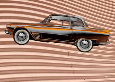 Auto Union 1000 SE millespecial Poster in rust brown