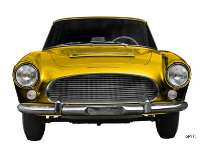 Auto Union 1000 SE millespecial Poster in yellow front view