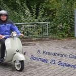 Vespa Roller bei der Einfahrt zur 5. Kressbronn Classic