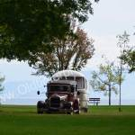 Ford A Hotrod mit Wohnwagen auf der Kressbronn Classics 2018