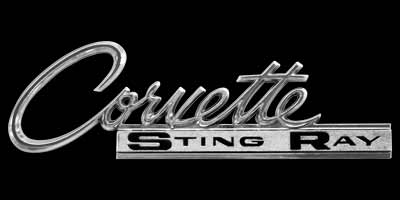 Logo Chevrolet Corvette Sting Ray Split Window von 1963