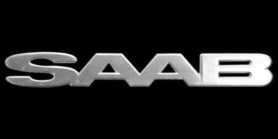 Logo SAAB 96 unten seitlich auf vorderen Kotflügel