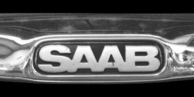 Logo SAAB auf Saab 9-3 1998–2003