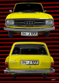 Audi F103 Variant in yellow double view