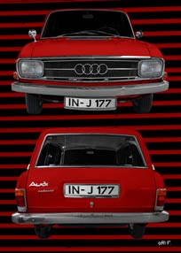 Audi F103 Variant in red double view