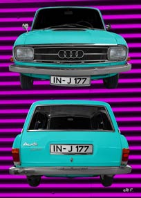 Audi F103 Variant double in cyan color