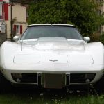 Corvette C3 in white color