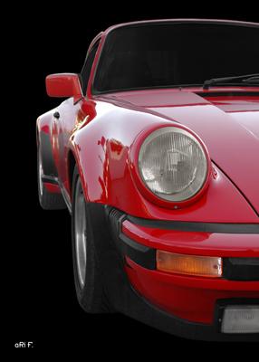 Poster Porsche 911 G-Modell Poster in Originalfarbe rot
