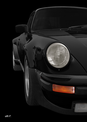 Porsche 911 G-Modell Poster in black by aRi F.