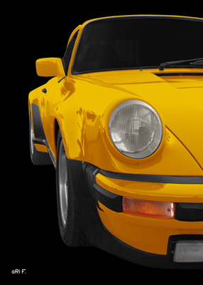 Porsche 911 G-Modell Poster in yellow by aRi F.