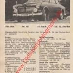 Volvo 123 GT technisches Datenblatt von 1965