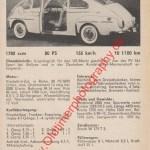 Volvo PV 544 Sport technisches Datenblatt von 1963