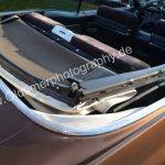 1970 Cadillac DeVille Convertible Detailansicht auf geschlossene Persenning