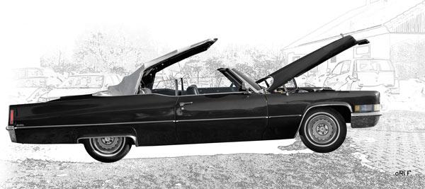 1970 Cadillac DeVille Convertible black & graphit