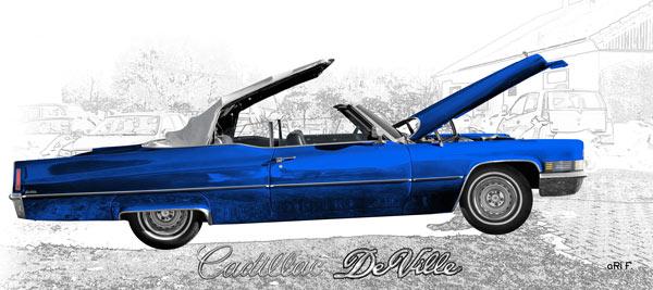 1970 Cadillac DeVille Convertible blue & graphit