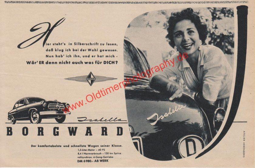 Borgward Isabella Werbung von 1955