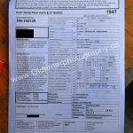 Buick Super Convertible technisches Datenblatt vom TÜV