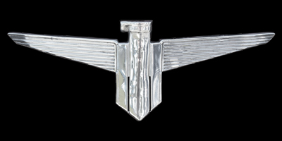 Logo Adlerwerke Trumpf auf Cabriolimousine 1934