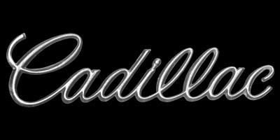 Logo Cadillac DeVille 1970 Schriftzug am Heck befestigt