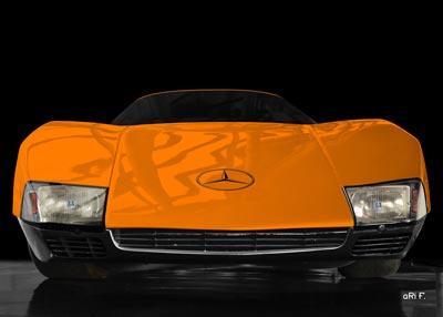 Mercedes-Benz C 111/III front view in orange