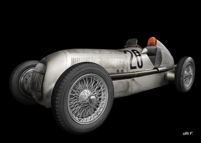 Mercedes-Benz W 25 Silver Arrow in original silver